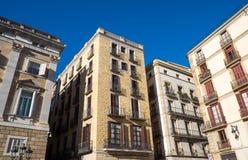 Casas históricas em Barcelona Fotografia de Stock Royalty Free
