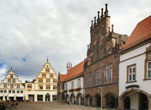 Casas históricas em Lemgo, Alemanha Imagem de Stock Royalty Free