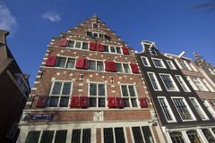 Casas históricas en Amsterdam Fotos de archivo libres de regalías