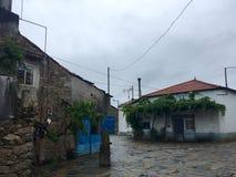 Casas históricas en la ruta del camino de Santiago Imagen de archivo libre de regalías