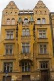 Casas históricas no centro de Praga Fotos de Stock Royalty Free
