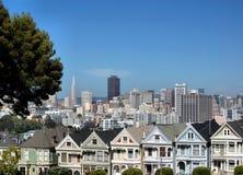 Casas históricas San Francisco Imagens de Stock Royalty Free