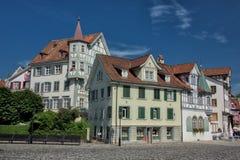 Casas históricas suizas de Gallen Zurich Canton del santo Fotos de archivo