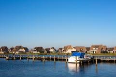 Casas holandesas do feriado fotografia de stock royalty free