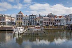 Casas holandesas do porto Foto de Stock