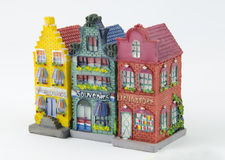 Casas holandesas miniatura del canal Foto de archivo libre de regalías