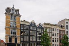 Casas holandesas típicas en Amsterdam Fotos de archivo