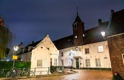Casas holandesas tradicionais em Amersfoort, os Países Baixos fotografia de stock