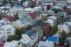 Casas iclandic de Tipical em Reykjavik islândia imagem de stock royalty free