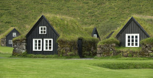 Casas iclandic tradicionais Imagem de Stock
