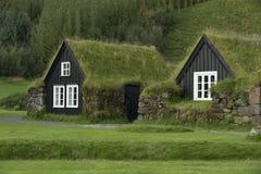 Casas iclandic tradicionais Imagens de Stock
