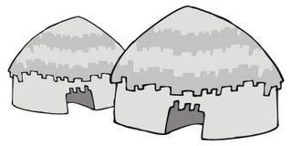 Casas indianas ilustração do vetor