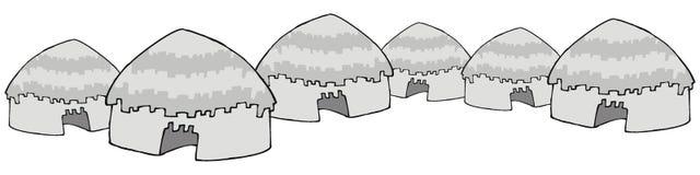 Casas indias ilustración del vector