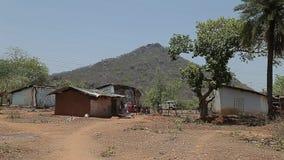 Casas indias pobres del pueblo asia metrajes