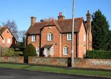 Casas inglesas de la aldea Foto de archivo