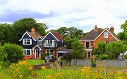 Casas inglesas do campo foto de stock royalty free