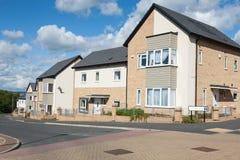 Casas inglesas novas Foto de Stock Royalty Free