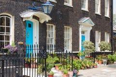 Casas inglesas típicas Fotos de archivo libres de regalías