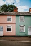 Casas inglesas típicas Imagenes de archivo