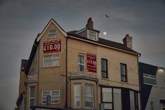 Casas inglesas típicas fotografia de stock