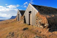 Casas islandêsas tradicionais velhas, Skaftafell, Islândia foto de stock royalty free