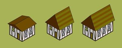 Casas isométricas Fotografia de Stock Royalty Free