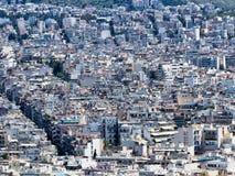 Casas llanas multi de alta densidad, Atenas, Grecia fotos de archivo