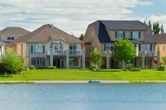 Casas luxuosas canadenses em Manitoba Foto de Stock Royalty Free