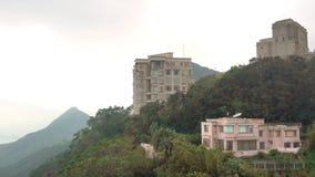 Casas luxuosas em Victoria Peak Hong Kong video estoque