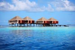 Casas maldivas Imagenes de archivo