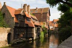 Casas medievais Fotos de Stock