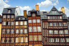Casas medievais Fotografia de Stock Royalty Free