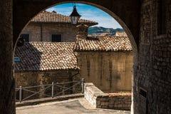 Casas medievais antigas Fotos de Stock Royalty Free
