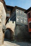 Casas medievais do centro velho em Plovdiv, Bulgária Imagem de Stock