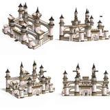 Casas medievais - palácio Foto de Stock Royalty Free