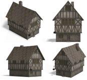Casas medievais - pensão Fotografia de Stock Royalty Free