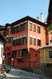 Casas medievales de Plovdiv viejo, Bulgaria Fotografía de archivo
