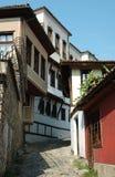 Casas medievales del viejo centro en Plovdiv, Bulgaria Foto de archivo