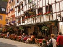 Casas medievales en Bernkastel, Alemania Fotos de archivo libres de regalías
