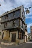 Casas medievales en la ciudad vieja Chinon francia Foto de archivo libre de regalías