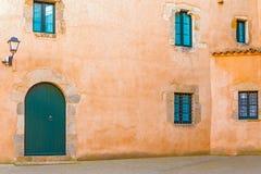 Casas medievales en Tossa de Mar Imagenes de archivo