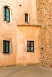 Casas medievales en Tossa de Mar Fotografía de archivo