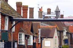 Casas medievales históricas en Inglaterra meridional Fotos de archivo
