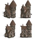 Casas medievales - mesón Fotografía de archivo