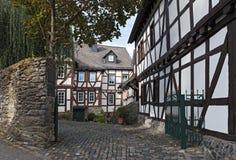 Casas metade-suportadas históricas na cidade velha dos braunfels, hess imagem de stock royalty free
