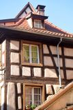 Casas metade-suportadas típicas na região de Alsácia de França 02 Foto de Stock