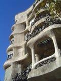 Casas Mila de Gaudi Imagenes de archivo