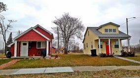 Casas minúsculas em Michigan fotografia de stock