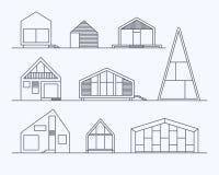 Casas minúsculas 1 linear Fotografía de archivo