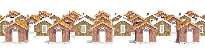 Casas modelo de la arquitectura en blanco Imagenes de archivo